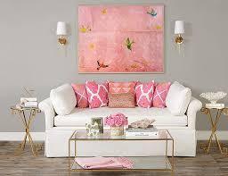 classy cheerful pink room decor