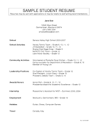 doc 12751650 resume template for high school student throughout activity resumes template