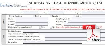 forms uc berkeley campus shared services int travel button 2 international travel reimbursement claim form