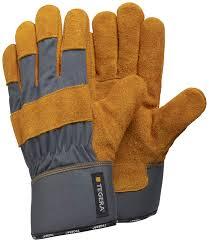<b>Перчатки рабочие</b> из спилковой <b>кожи на</b> полуподкладке TEGERA ...