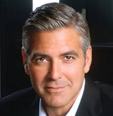 George Clooney - because I just want to look into those pools of brown eyes and salivate. I also like the tone of his voice – it sounds all cool and sexy! - George-Clooney-headshot