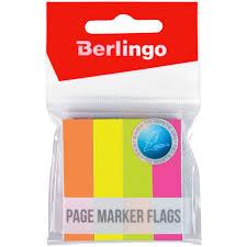 <b>Флажки</b>-<b>закладки Berlingo</b>, 12*50мм, 100л*<b>4</b> неоновых цвета