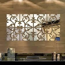 Removable <b>DIY</b> 3D Acrylic <b>Mirror</b> Wall Decal <b>Set</b> Sticker for Home ...