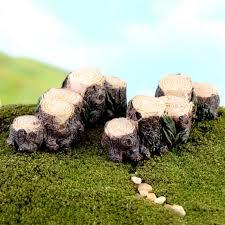 MIni DIY Stump Bridge Garden Bonsai Ornament Landscape Resin ...