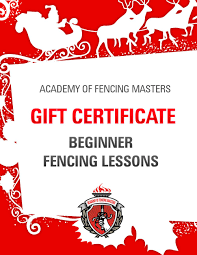 give the gift of fencing lessons a unique holiday gift for your holiday shopping you can knock a couple items off your holiday gift list simply by heading to our website and ordering afm gifts certificates that