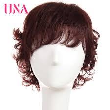 "<b>UNA</b> Water Wave Indian <b>Human Hair Wigs</b> Non <b>Remy Hair</b> 6"" 120 ..."