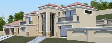 Nethouseplans   Affordable House PlansModern Tuscan style  bedroom house plan  Double storey floor plans  Nethouseplans architectural