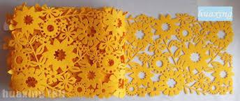 Runner Tavolo Giallo : Mordern fiore giallo feltro tovaglia rettangolare casa per il