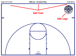 basketball court diagrams and templates   free printable    basketball court diagram instructions   half court