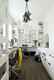 Small Picture small home office with bookshelves black and white frame collage