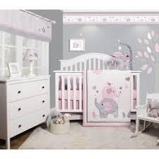 Blossom <b>Pink Watercolor</b> Floral <b>3</b>-<b>Piece</b> Baby Crib Bedding Set ...