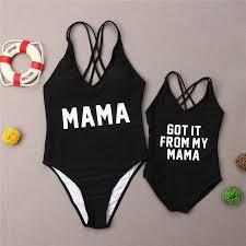 <b>Family Matching Swimwear Mother</b> Daughter Swimsuit Women ...