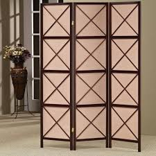 living room dividers ideas attractive: simple x pattern inspired fabrics screen room divider