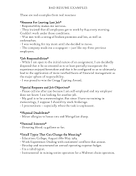 examples of a bad resumes template examples of a bad resumes