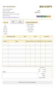 house rent receipt template hotel receipt template
