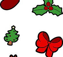 Christmas Holly Stickers | Redbubble