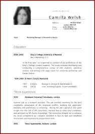 curriculum vitae examples for students sendletters info cv sample curriculum vitae camilla by miannaveed