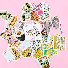 45PCS/1 boxes <b>Kawaii</b> Life Small Things Label Stickers <b>Cute</b> Diary ...