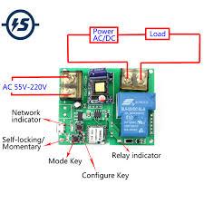 Wifi Remote Control <b>Relay Module</b> 220V 30A <b>High Power</b> 6000W ...