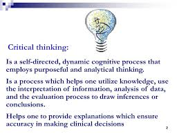 CRITICAL THINKING AND THE NURSING PROCESS NRS     Unit III Session
