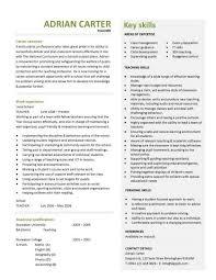 teacher cv template resume sample for teaching job