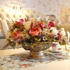 <b>European Classical</b> Luxury <b>Ceramic Vase</b>+Peony Artificial Flower ...