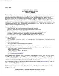 diesel mechanic resume template samples examples format diesel mechanic resume template