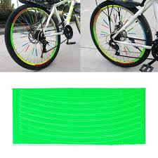 <b>1pc Bicycle Wheel</b> Reflective Stickers Bike Wheel Safe Accessories ...