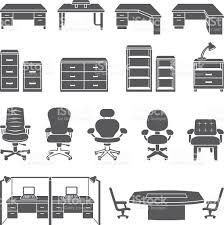 office furniture black white royalty free vector icon set royalty free stock vector art black and white office furniture