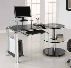 black glass top fabulous home office decoration design with ikea glass desks interior ideas good looking home office black metal computer desk