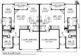 Duplex   Garage One Floor House Plans  corner duplex floor plan    Duplex   Garage One Floor House Plans