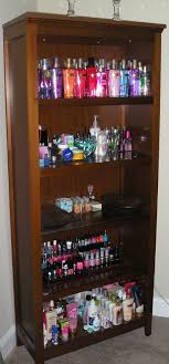 plastic makeup organizer put bathroom: would be great idea with white or black shelf could put nail polish