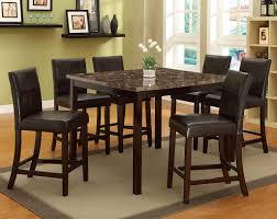 Dining Room Set Counter Height Piece Brown Wood Dining Table And Chair Set 10 Bossa Piece Counter