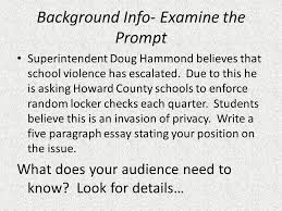 The Write Stuff    Paragraph Essay Blueprint Introduction    Hook