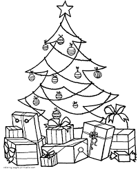 christmas present coloring pages print fun color page blank christmas tree coloring page big