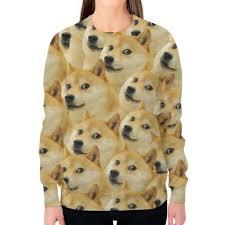 Заказать <b>свитшот женский с</b> полной запечаткой Doge #2596315 ...