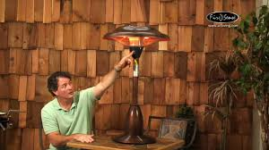 patio heater tabletop copper finish table top round halogen patio heater