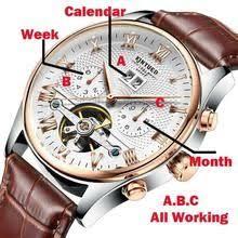 <b>KINYUED</b> Swiss Mechanical <b>Tourbillon</b> Brand Watches Classic Six ...