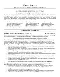 manufacturing process executive resumefree resume templates