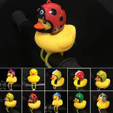 Bicycle Horn bell LED light <b>Little Yellow Duck</b> With Helmet Bike Bell ...