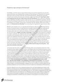 holocaust essay  year  hsc   modern history  thinkswap holocaust essay