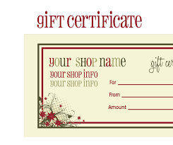 best photos of printable gift voucher love coupon templates printable christmas gift certificate template