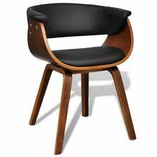 Dining <b>Chair Bent</b> Wood and Faux Leather | eBay