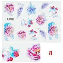 5D рельефные водяные <b>наклейки</b> на ногти цветок <b>Декоративные</b> ...