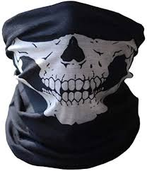 Change <b>Bicycle</b> Ski Skull Half Face <b>Mask</b> Ghost <b>Scarf</b> Multi Use ...