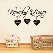 Laundry Room Quote <b>Wall Sticker</b>/Decorative Mural Hearts Home ...