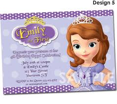 sofia the first birthday invitation printable party invite 🔎zoom