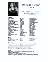 resume example acting resume template word acting resume format with acting resume for someone with actors resume template word