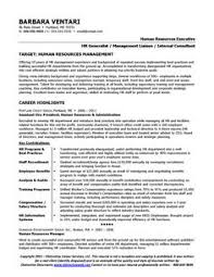 human resource resume examples resume template builder    sample  resume for an hr manager   page