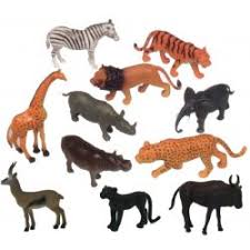 "<b>Animal</b> Playsets - Wild <b>Animals</b> 6"" (<b>11 Pcs</b>), MTB871"